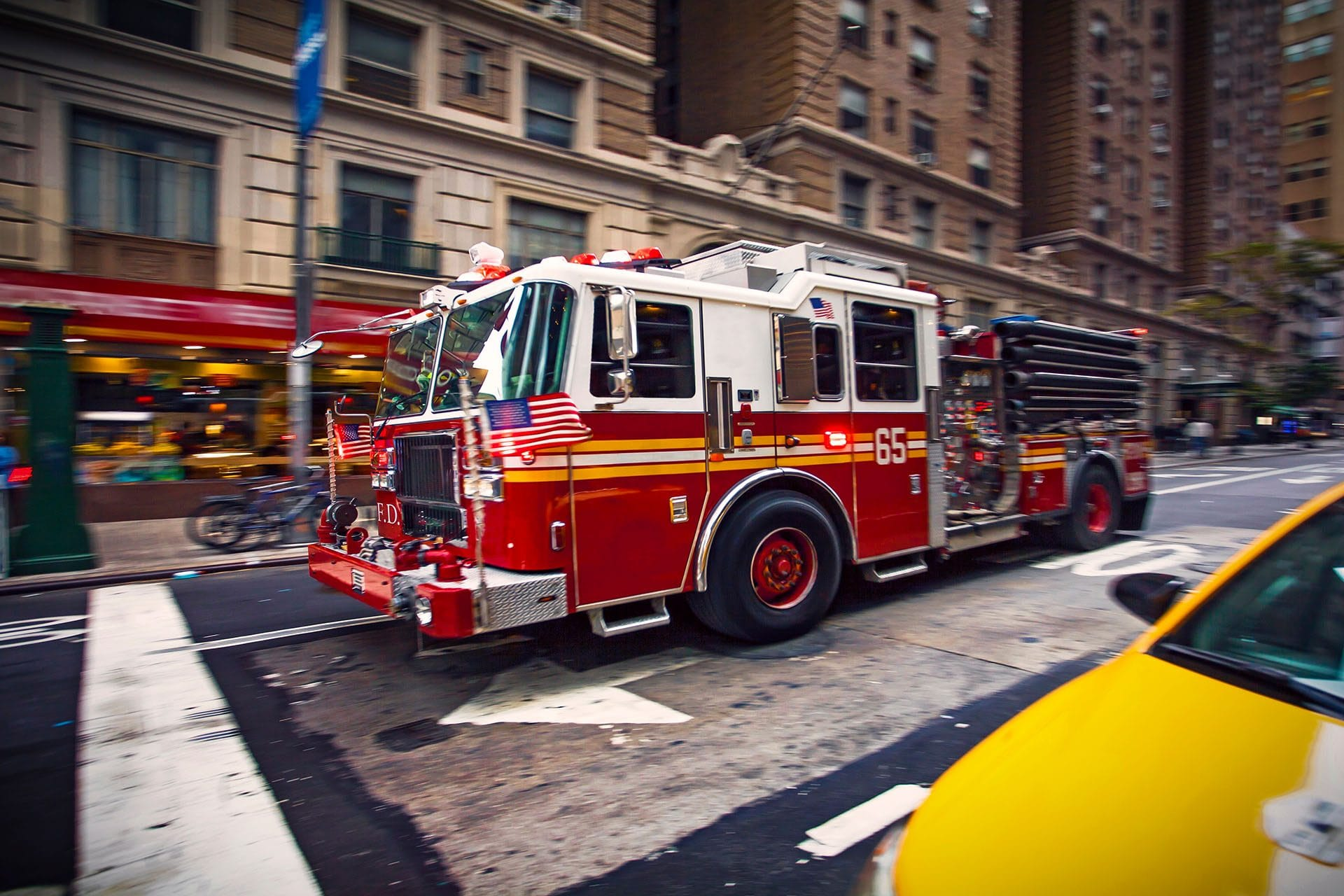 Fire Truck on city streets