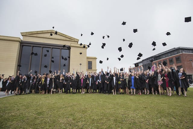 Swansea University students celebrate graduation