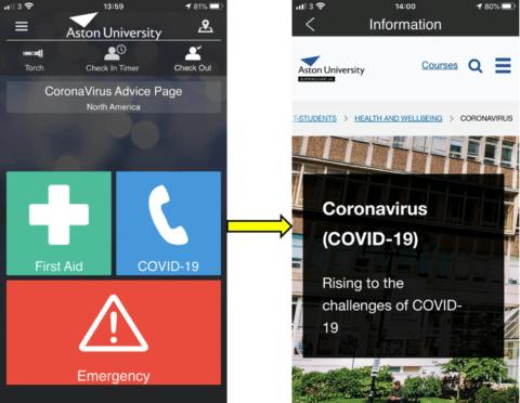 Aston University COVID-19 Info.